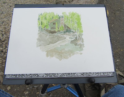 watercolor block easel board tripod painting