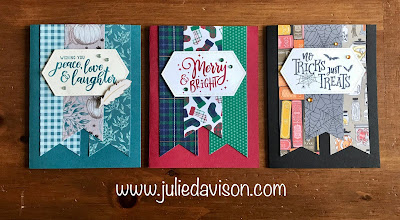 Stampin' Up! 2019 Holiday Catalog ~ Everything Festive Triple Banner Cards~ www.juliedavison.com #stampinup #christmas #halloween