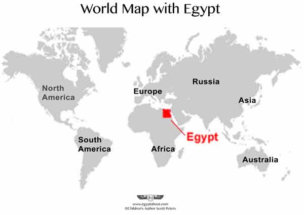 World Map with Egypt infographic