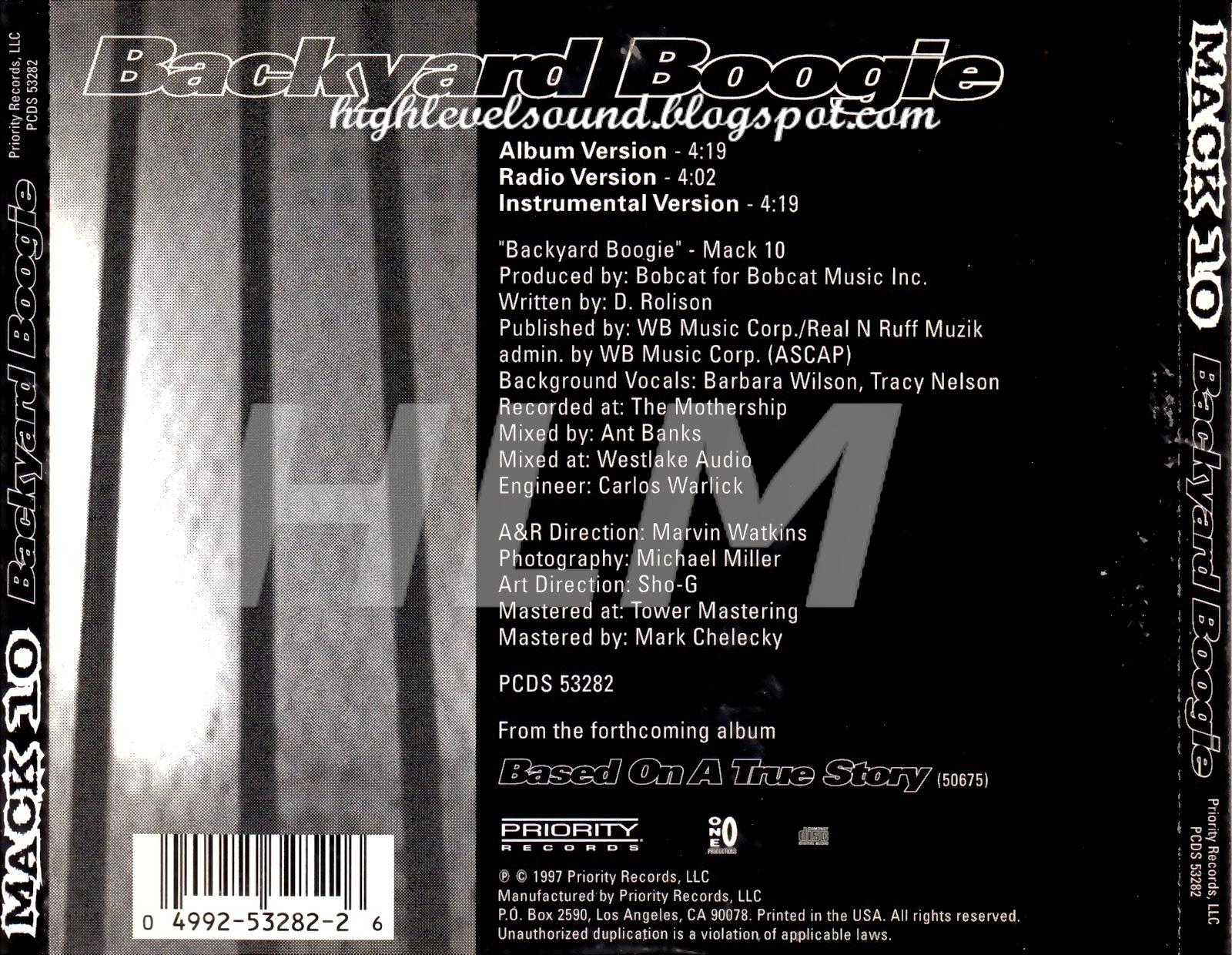 highest level of music: Mack 10 - Backyard Boogie-(CDS ...
