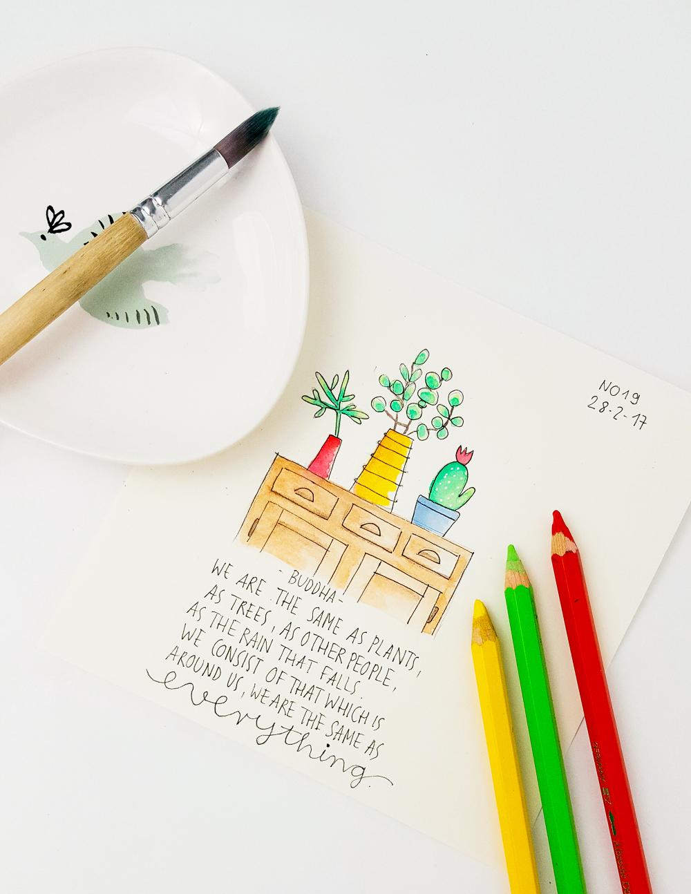 Zitate in Aquarell - die 30 Tage Herausforderung (Teil 2) - Janna Werner