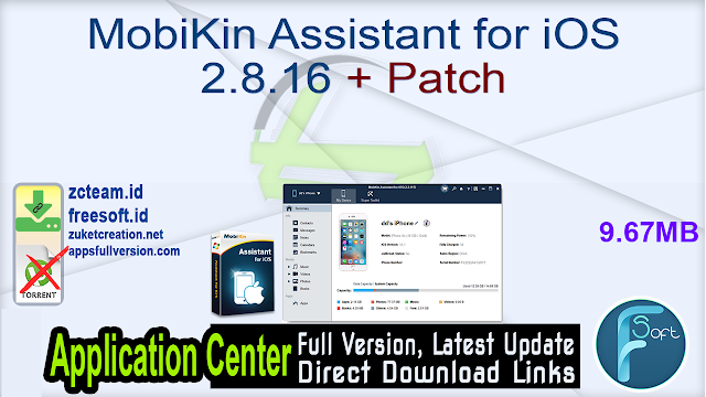 MobiKin Assistant for iOS 2.8.16 + Patch_ ZcTeam.id