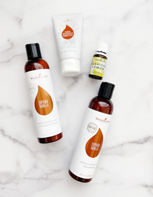 FREE summer samples of the copaiba vanilla shampoo + conditioner, charcoal mask, and LUSHIOUS lemon oil blend
