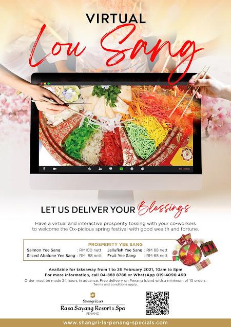 Raikan Tahun Baru Cina dengan Virtual Lou Sang bersama Shangri-La's Rasa Sayang Resort and Spa