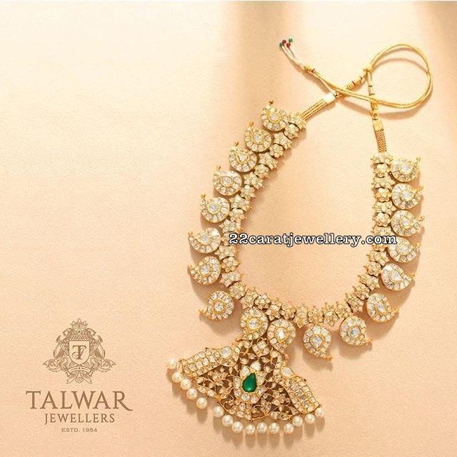 Kundan Mango Necklace Talwar Jewellers