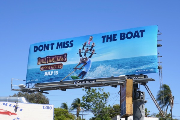 Hotel Transylvania 3 Summer Vacation wolfman billboard
