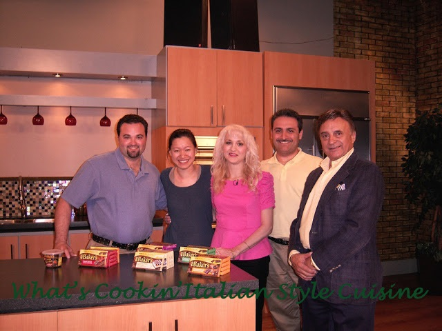 this is my family, son Curt, the woman from Kraft sponsoring this contest my husband Nemo and my brother RIP John Colenzo