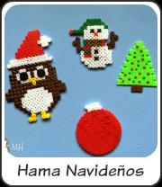 Hama Beads Navideños