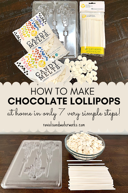 recipe for chocolate lollipop molds party favors