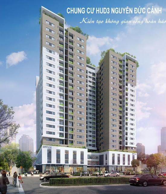 Phối cảnh dự án HUD3 Nguyễn Đức Cảnh