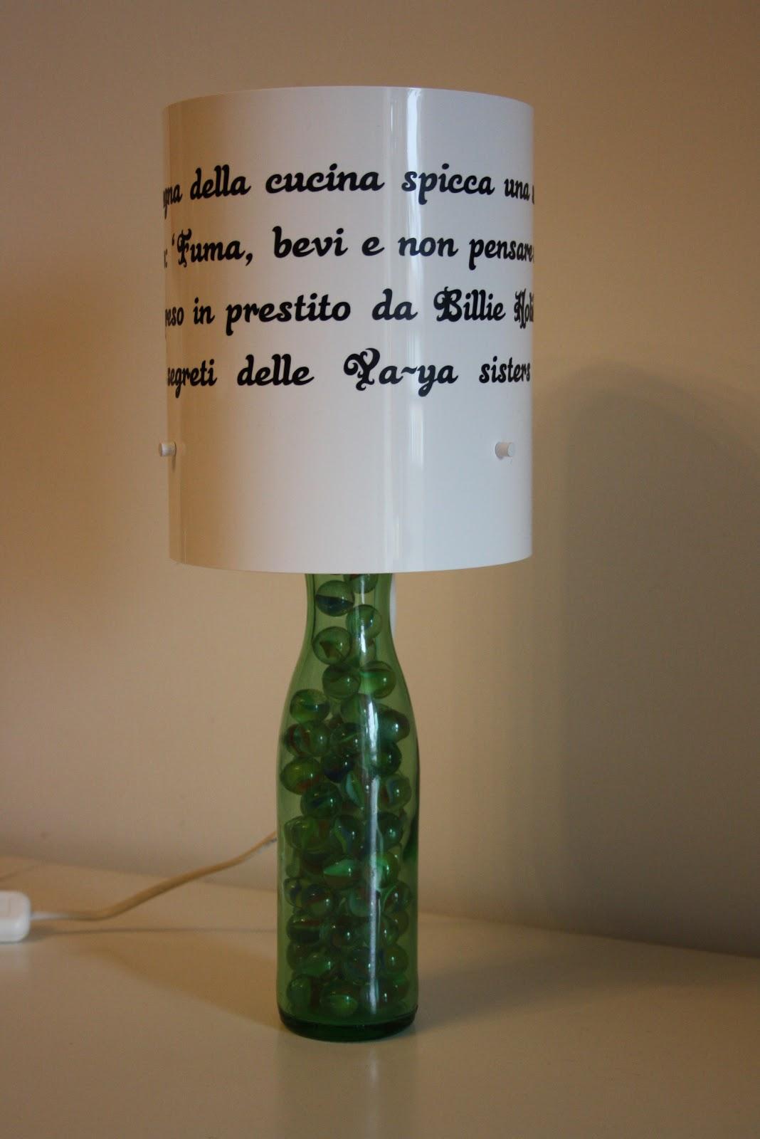Il baule delle idee da una bottiglia a una lampada for Portalampada ikea