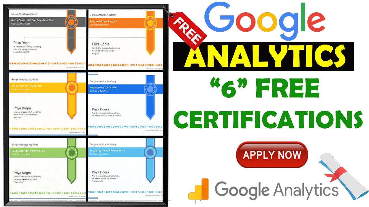 Cours Google Analytics Academy 2021 avec certificats gratuits de Google