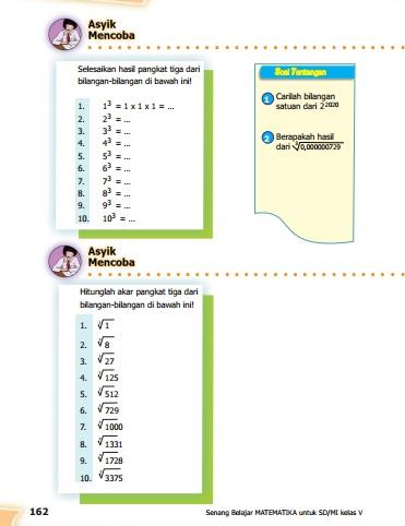 23/03/2021· berikut ini soal matematika kelas 5 sd lengkap dengan kunci jawabannya: Kunci Jawaban Buku Senang Belajar Matematika Kelas 5 Kurikulum 2013 Revisi 2018 Halaman 162 164 165 Kunci Soal Matematika