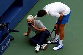 Descalificado del US Open, el tenista número 1 del rankig mundial, Novak Djkovic