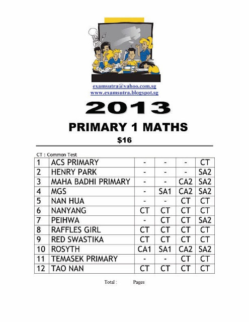 Top School Exam Papers: Pri 1 Top School Exam Papers 2013
