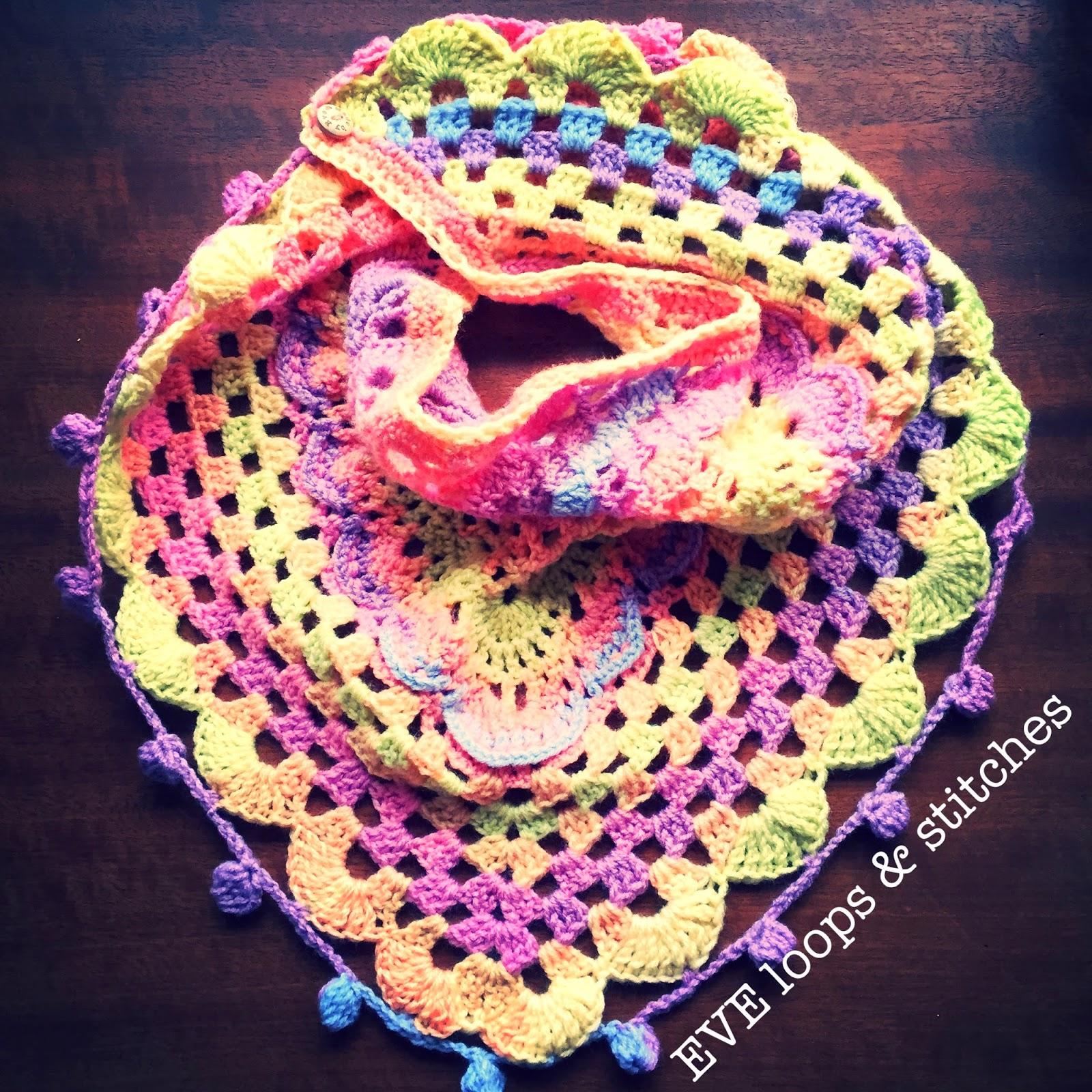 Eve Loops Stitches Beschrijving Van De Kinder Driehoeksjaal
