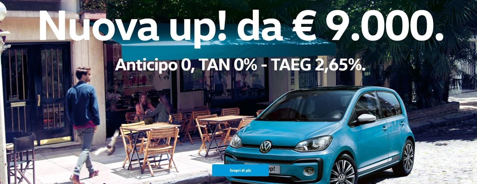 Offerte Volkswagen promozione nuova Up - Marzo 2017
