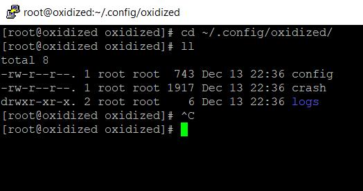 cd ~/.config/oxidized/