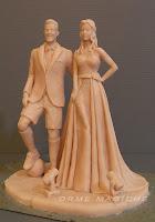 scultura per torta matrimonio realizzata a mano cake topper eleganti milano orme magiche