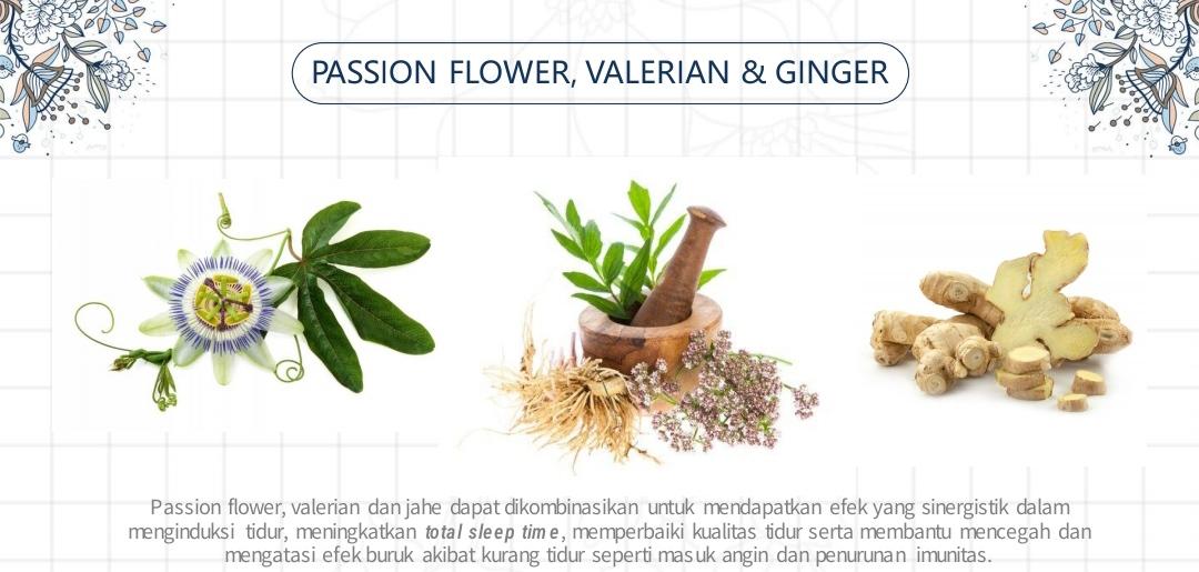Herbal atau tanaman obat untuk mengatasi gangguan tidur.