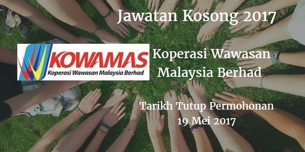Jawatan Kosong KOWAMAS 19 Mei 2017