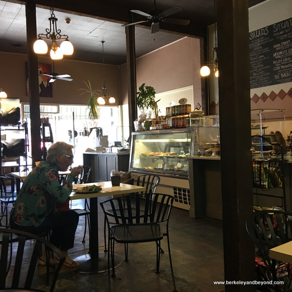 interior of Angelina's Bakery & Espresso in Lakeport, California