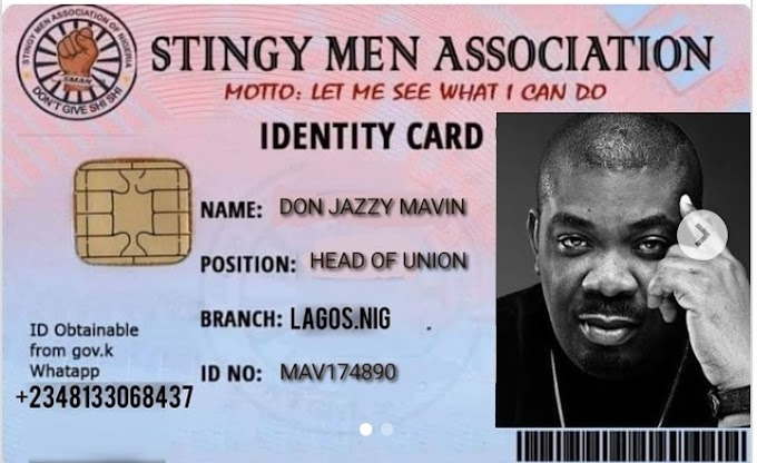 Nigerians react as Don Jazzy becomes president of stingy men Association of Nigeria (photo)