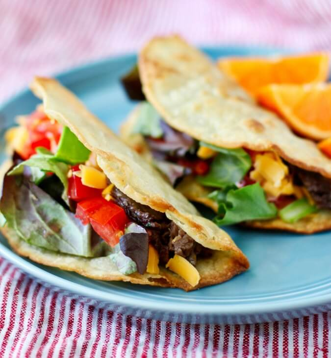 Short rib taco plate