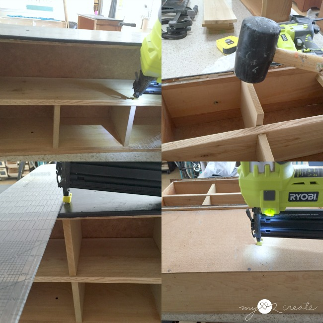 attaching cubby dividers