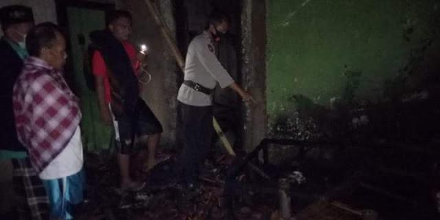 Rumah Seorang Nenek Terbakar, Akibat Ditinggal Jenguk Cucu