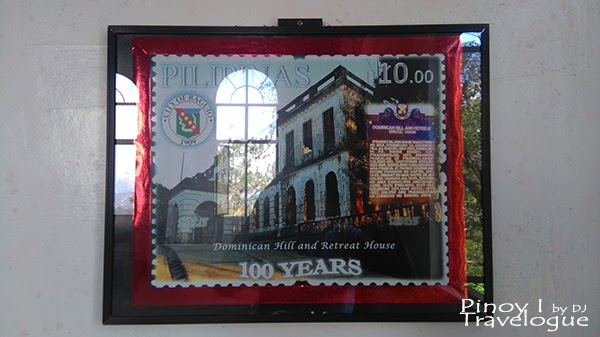Enlarged photo of stamp commemorating Diplomat Hotel's 100th year