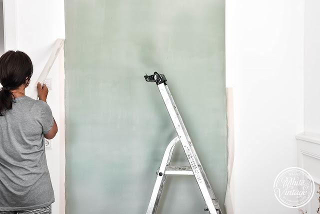 Kreative Wandgestaltung mit Farbstreifen