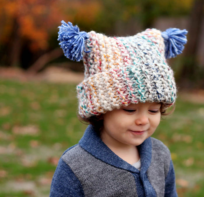 Garter Stitch Baby Hat Knitting Pattern : Free baby hat knitting patterns gina michele