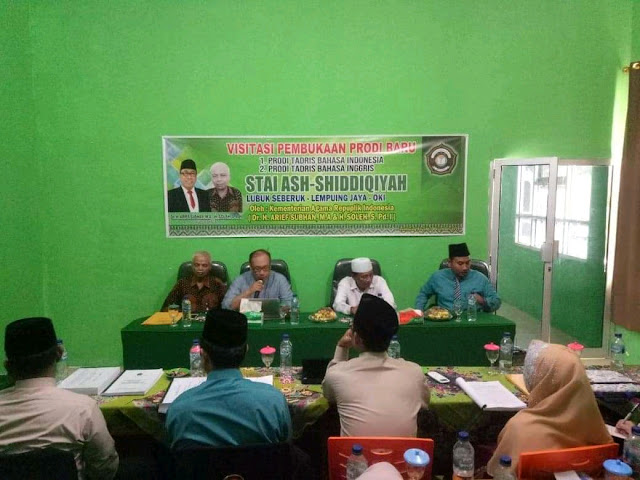 Suasana saat dilakukannya visitasi pembukaan prodi baru di STAI As-Shiddiqiyah (doc. Facebook STAI As-Shiddiqiyah).