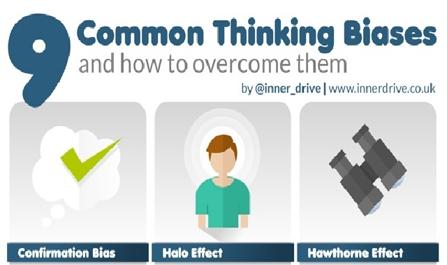 9 common Thinking Biases and how to Overcome them