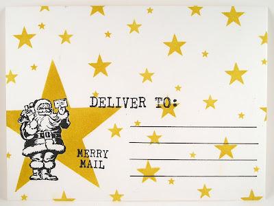 Darkroom Door Merry Mail Small Stencil Star Envelope