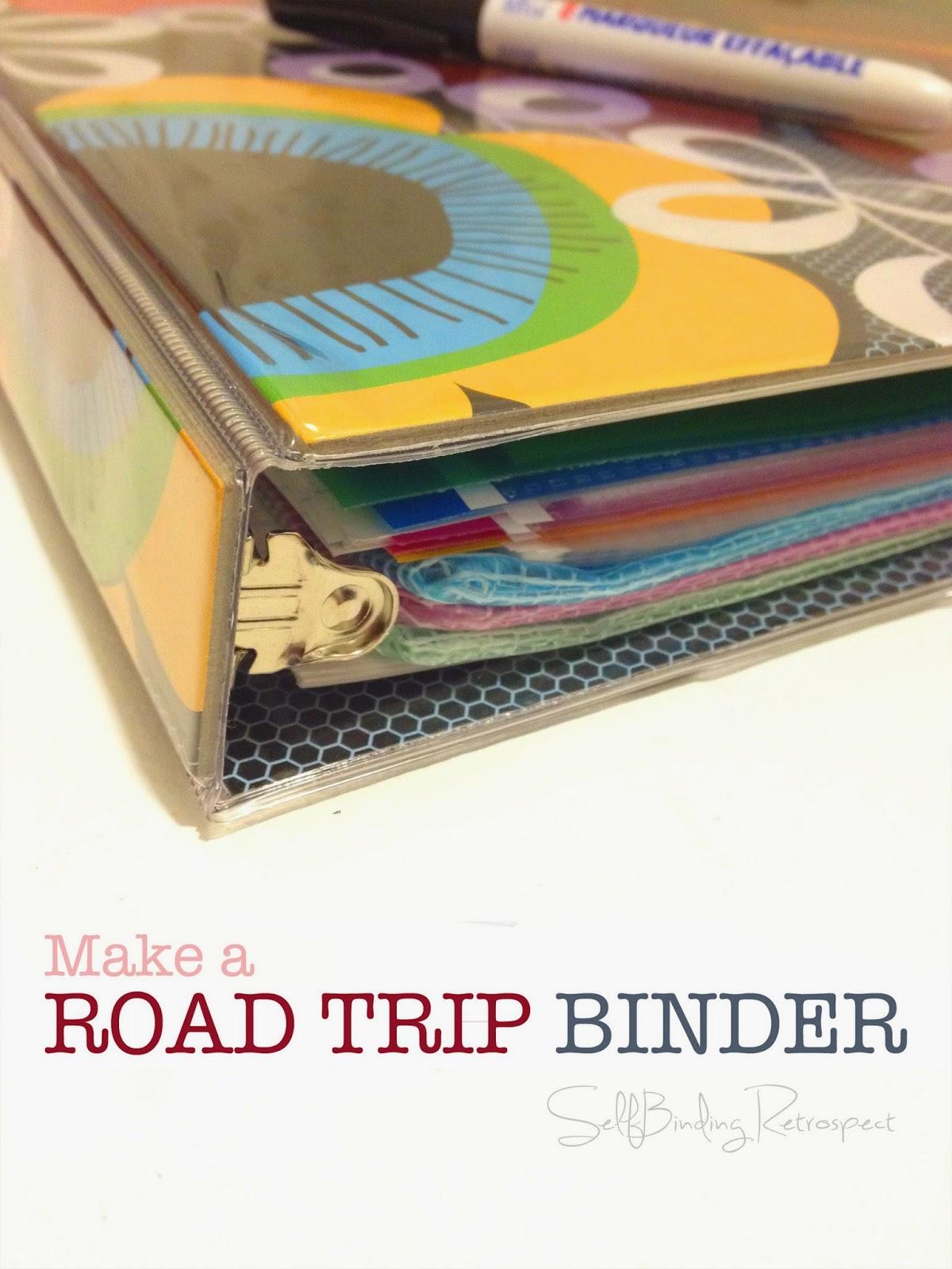 make a road trip binder