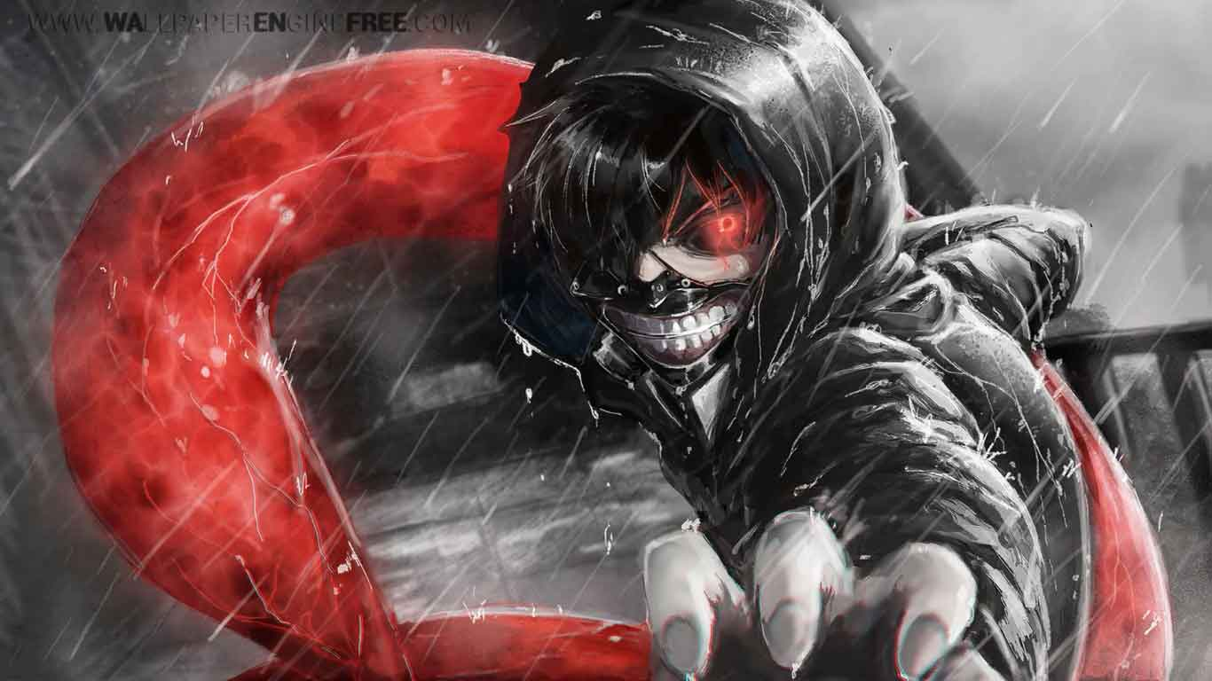 Tokyo Ghoul 1920x1080 Wallpaper Engine Free Download Wallpaper