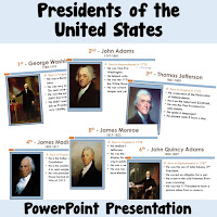 President Facts in a PowerPoint Slideshow