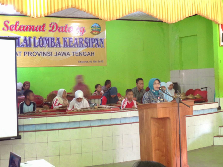 Pidato tim dari BARPUS Prov. Jateng Ibu Dra. Retno Puspito