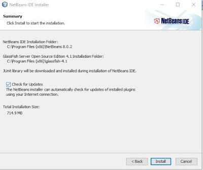 memulai instal netbeans dengan java jdk sudah terinstal terlebih dahulu