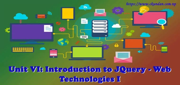 Introduction to JQuery - Web Technologies I