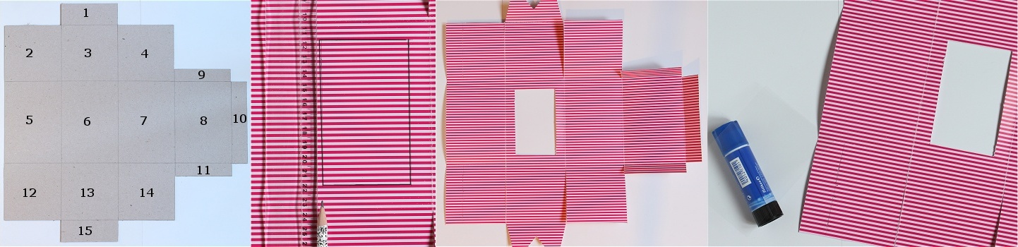 DIY/Tutorial Cupcake-Geschenkbox - Cupcake-Geschenkschachtel Anleitung 6