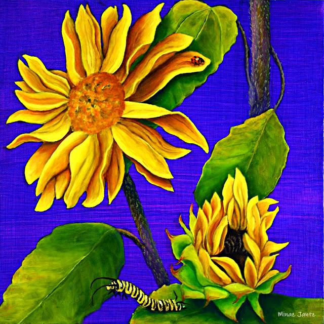 Diptych Sunflowers BOTTOM by Minaz Jantz (Oil)
