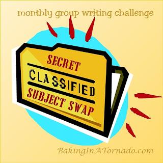 Secret Subject Swap | graphic designed by and property of www.BakingInATornado.com | #MyGraphics