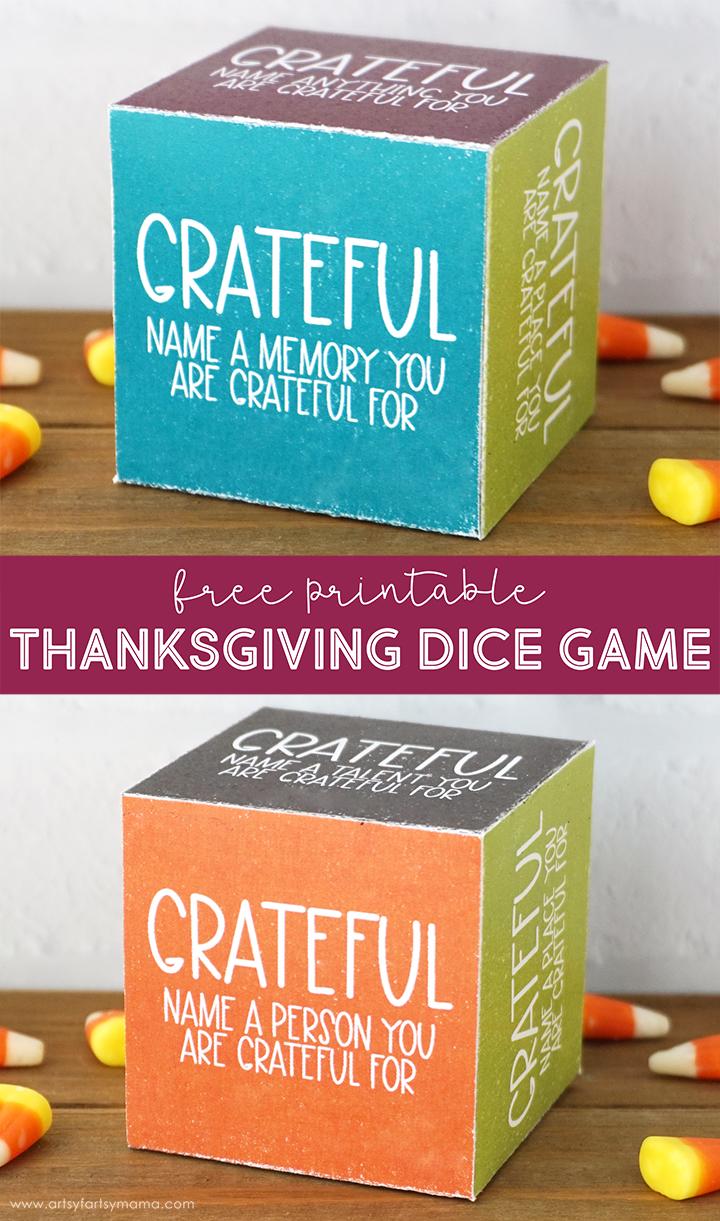 Free Printable Thanksgiving Dice Game