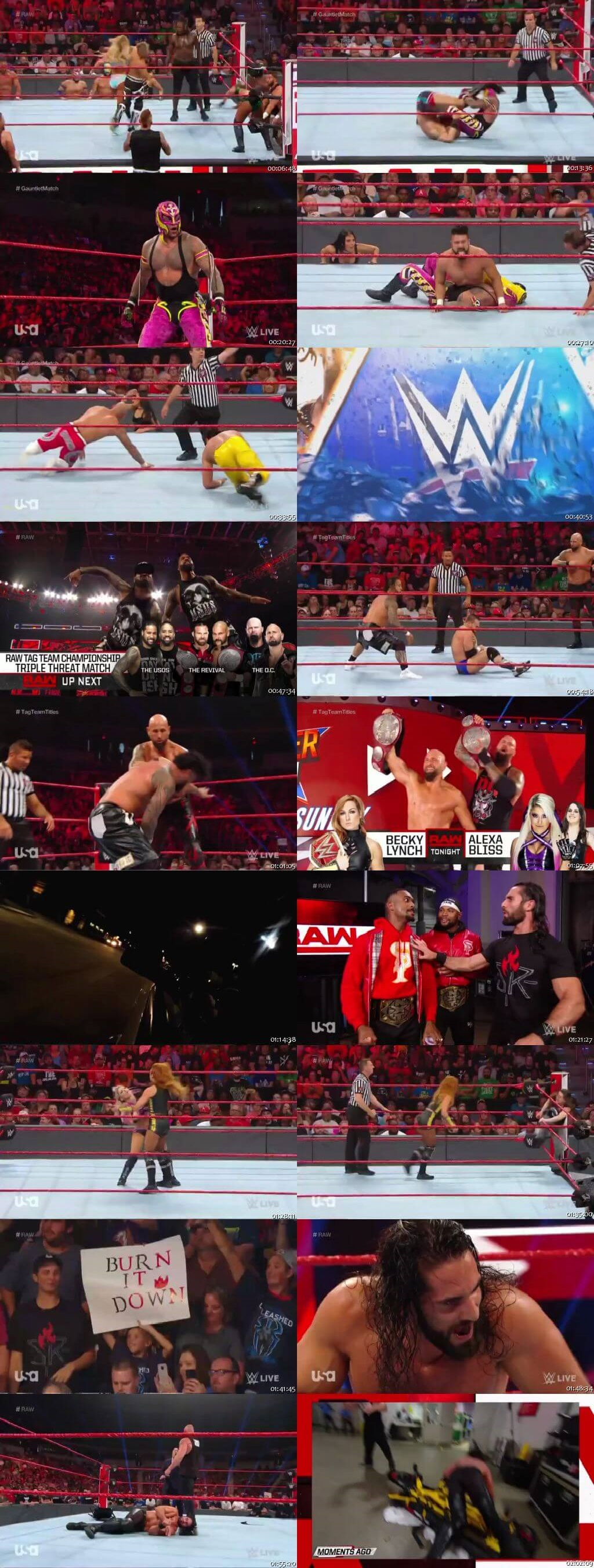 Screen Shot Of Wrestling TV Show WWE Monday Night Raw 29th July Watch Online Free Download