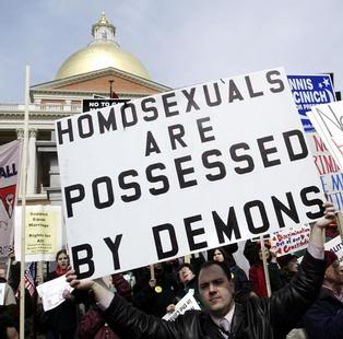 Homosexuality protest