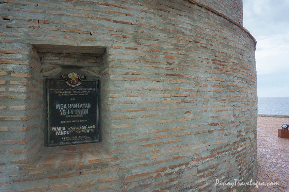 National Cultural Treasure marker plastered at the walls of Baluarte