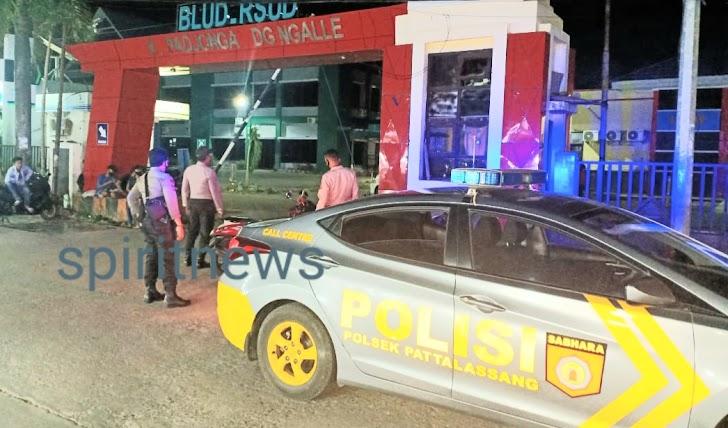 Dalam Rangka Harkamtibmas, Polsek Pattallassang Polres Takalar Aktif Lakukan Patroli Blue Light